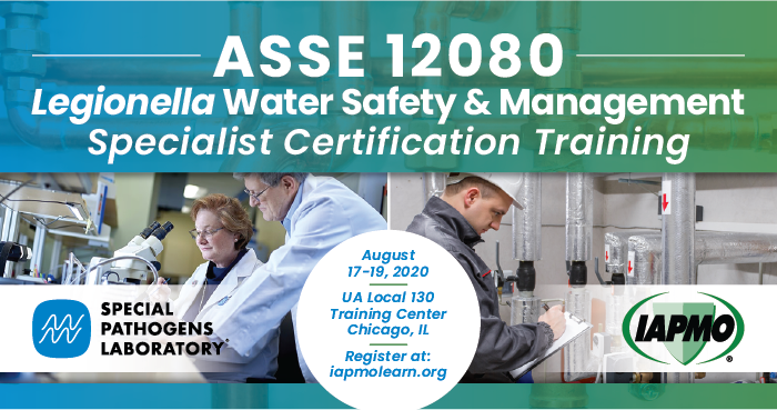 IAPMO, Special Pathogens Laboratory to Offer ASSE 12080 Training Program