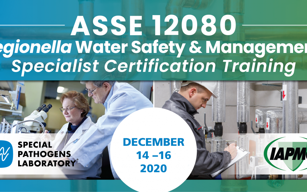 Register for Next IAPMO/ASSEE 12080 Certification Training, December 14-16