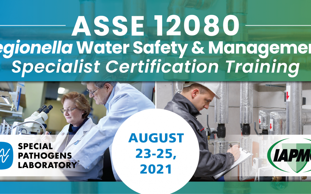 Register for ASSE 12080 Certification Training, August 23-25, 2021